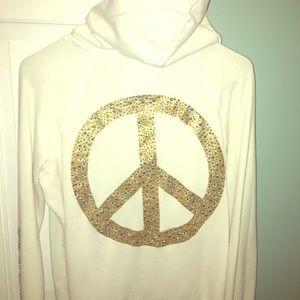 PINK Peace Sign Sweatshirt